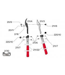 Pièces de rechange pour Felco modèle F 211-40