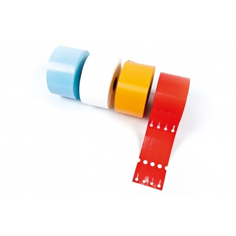 Beschrijfbaar met stift of bedrukbaar met thermo-transferprinter
